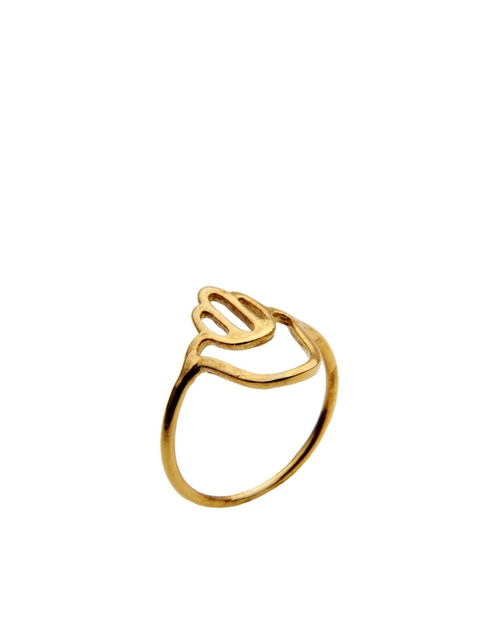 Gold Plated Silver Ring by Aonie in Pretty Little Liars - Season 6 Episode 6