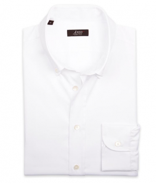 Bib Front White Formal Shirt by Anto Beverly Hills in Jason Bourne