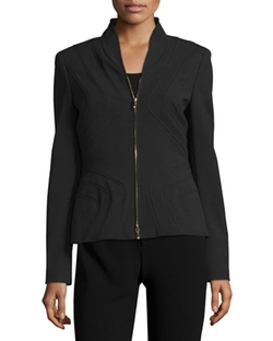 Stand-Collar Zip-Front Jacket by Escada in Power