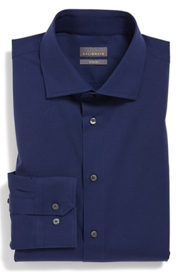 Trim Fit Dress Shirt by Calibrate in She's Funny That Way