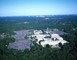 McLean, Virginia by CIA Headquarters Building in Spy