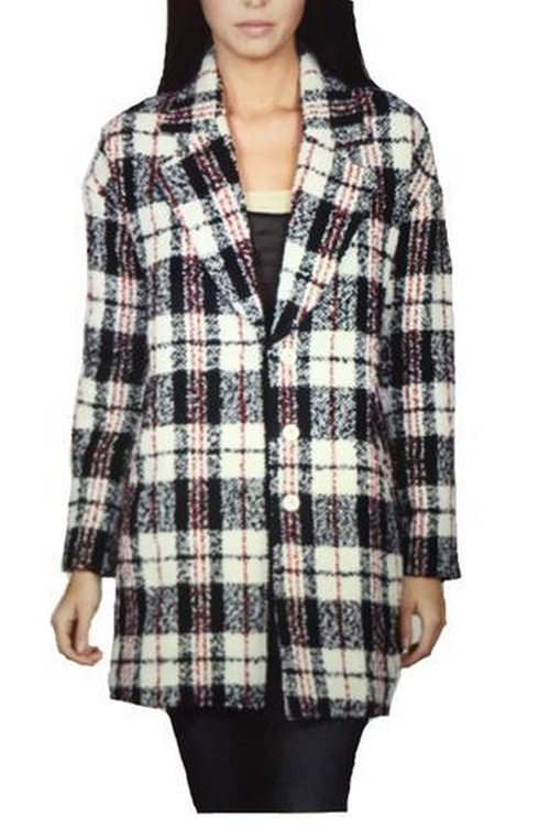 Plaid Oversized Coat by Locust Whimsy in The Mindy Project - Season 4 Episode 5