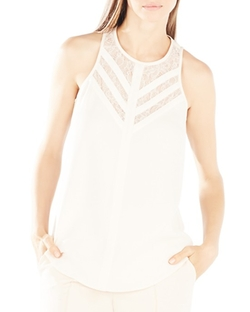 Jay Illusion Lace Neck Top by BCBGMAXAZRIA in The Vampire Diaries
