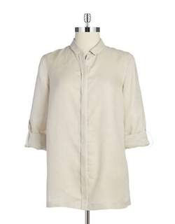 Linen Blouse by Elie Tahari in GoldenEye