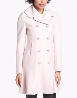 Wool Blend Peplum Hem Coat by Ted Baker London in New Girl