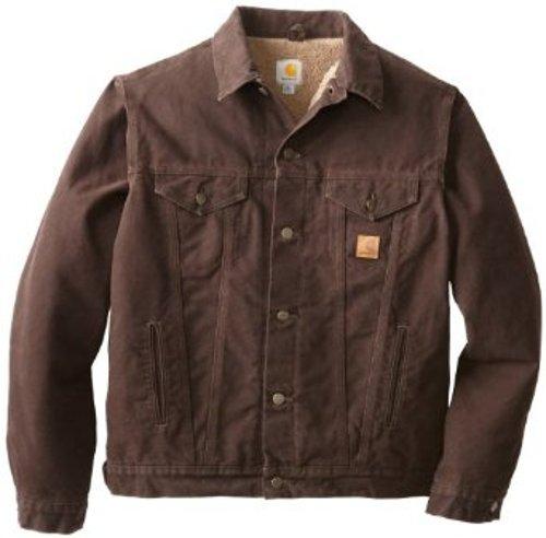 Men's Sandstone Duck Jean Jacket by Carhartt in Taken 3