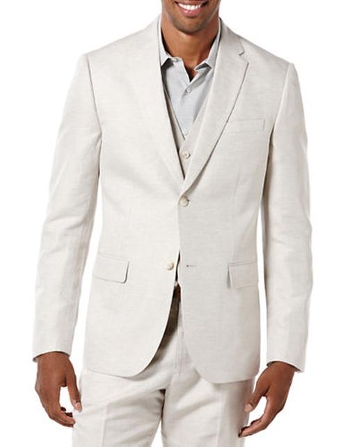 Linen-Blend Suit Jacket by Perry Ellis in Wet Hot American Summer