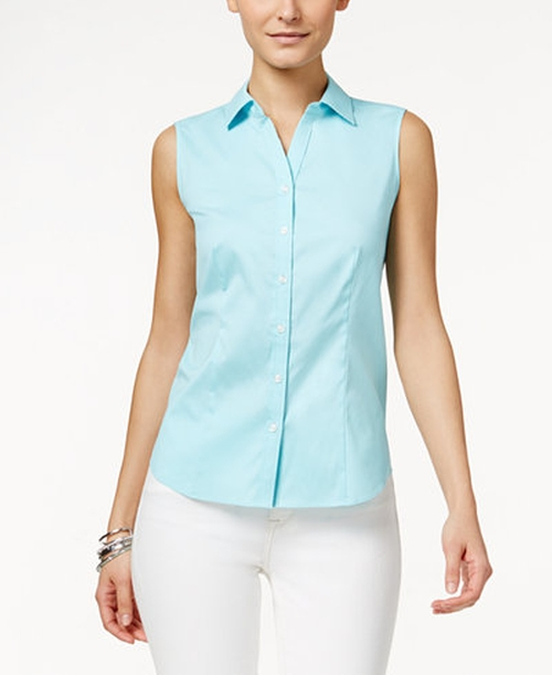 Sleeveless Shirt by Charter Club in Animal Kingdom