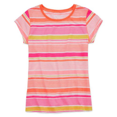 Short-Sleeve Striped Favorite Knit T-Shirt by Arizona in Black or White