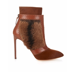 Calf-Hair And Leather Ankle Boots by Francesco Russo in Keeping Up With The Kardashians