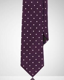 Polka-Dot Silk Satin Tie by Ralph Lauren in The Second Best Exotic Marigold Hotel