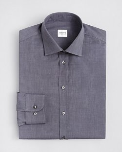 Textured Solid Dress Shirt by Armani Collezioni in Birdman