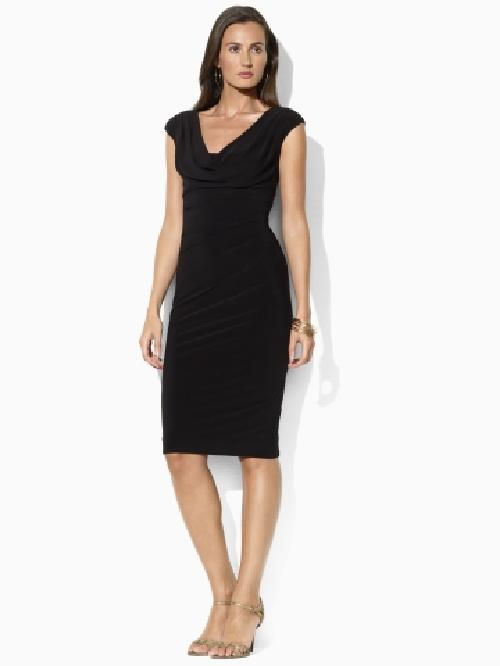 Cowl Jersey Dress by Ralph Lauren in Blended
