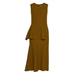 Wool Peplum Sheath Dress by Hugo Boss in Suits