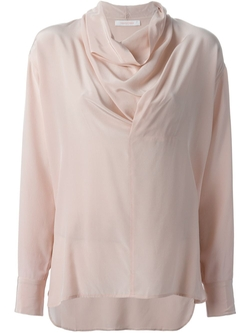 Draped Collar Blouse by Chloe in Scream Queens