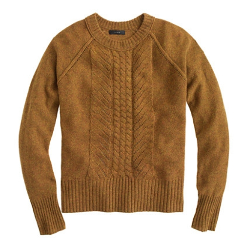 Wool Pointelle Cable Sweater by J. Crew in Before I Wake