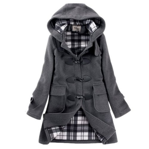 Women Wool Coat Slim Outerwear Duffel Coat by Bearry in If I Stay