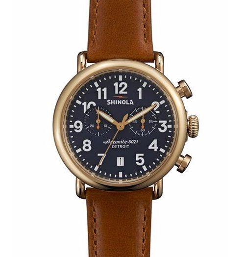Runwell Chronograph Watch by Shinola in Rosewood - Season 1 Episode 10