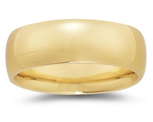 18k Yellow Gold Comfort-Fit Wedding Band by Szul in Couple's Retreat