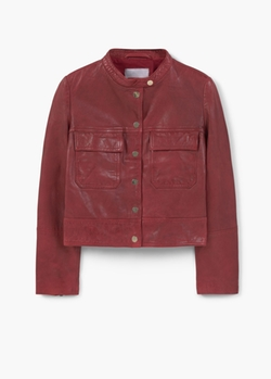 Pocket Leather Jacket by Mango in Once Upon a Time