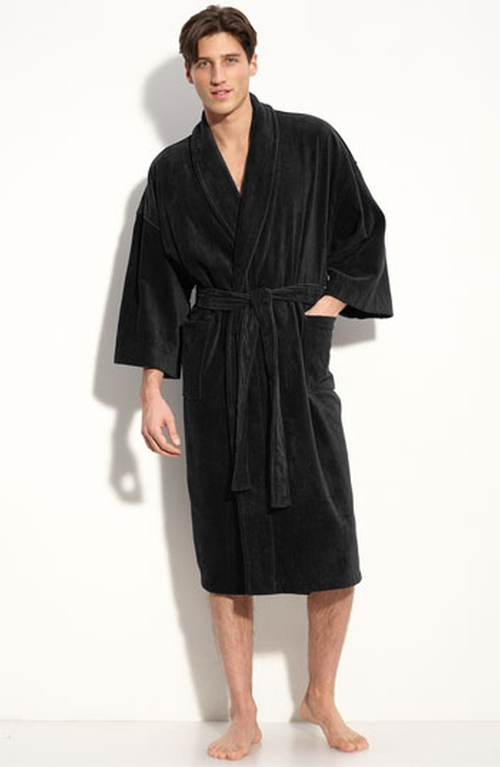 Terry Velour Robe by Majestic International in Vacation
