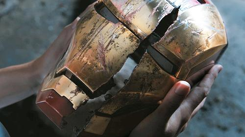Custom Made Iron Man Helmet by Phil Saunders (Concept Artist) in Iron Man 3