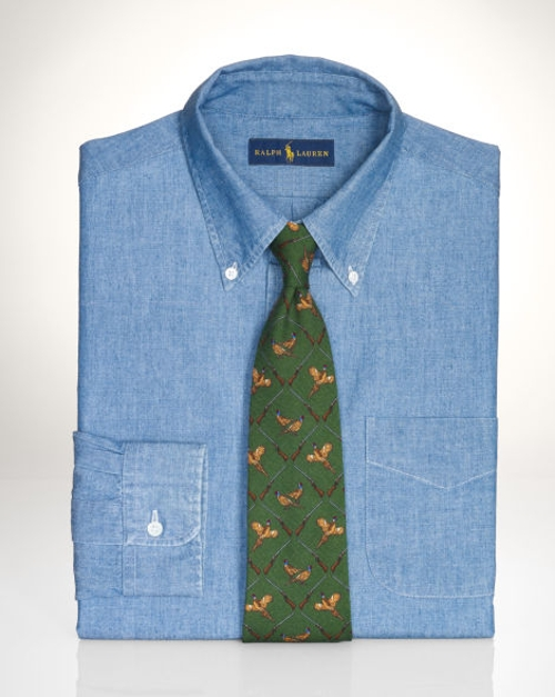 Slim-Fit Chambray Dress Shirt by Polo Ralph Lauren in The Longest Ride