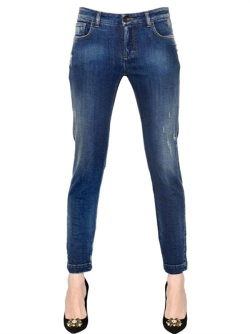 Kate Stretch Cotton Denim Jeans by Dolce & Gabbana in The Other Woman