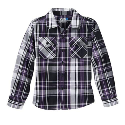 Plaid Poplin Button Down Shirt by Tony Hawk in Trainwreck