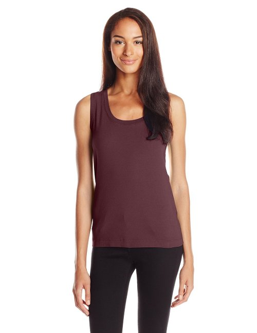 Women's Classic Fit Tank by Three Dots Red in The Boy Next Door