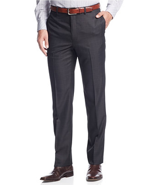 Windowpane Slim-Fit Dress Pants by Calvin Klein in My All American