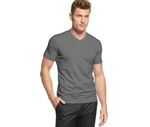 Fitted V-Neck T-Shirt by Alfani Red in That Awkward Moment