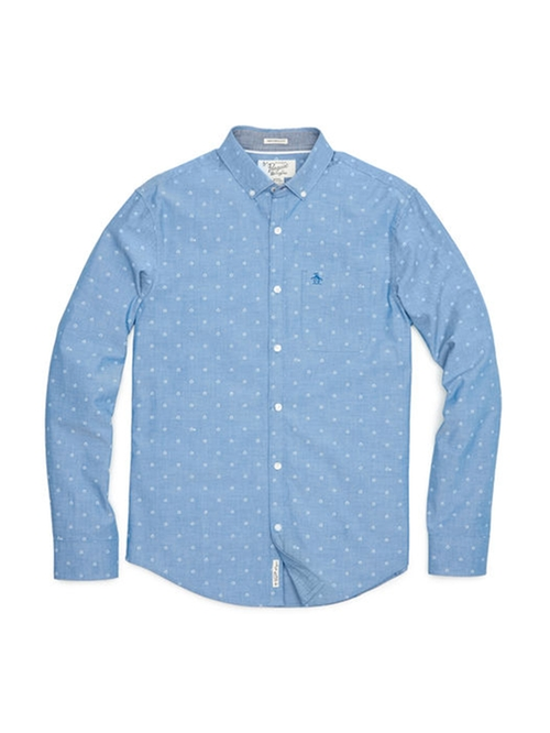 Mini Cabin Print Oxford Shirt by Original Penguin in Scream Queens