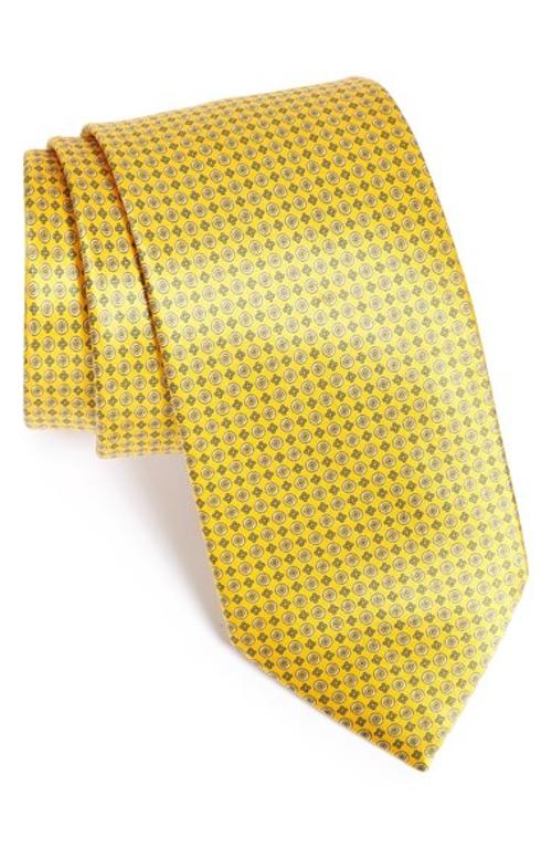Geometric Grid Print Silk Tie by Brioni in Get Hard