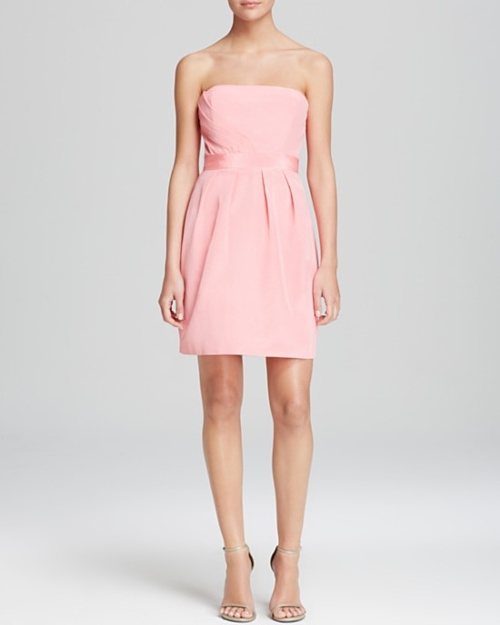 Julianna Strapless Faille Dress by Shoshanna in Mean Girls