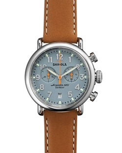 Runwell Chrono Watch by Shinola in Ballers