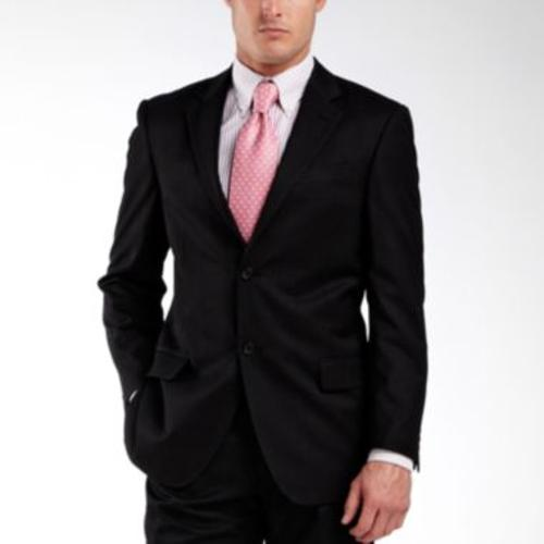 Black Stripe Two-Button Suit Jacket by Dockers in Addicted