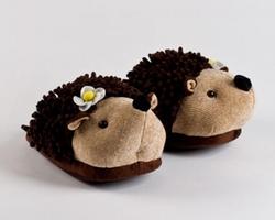 Fuzzy Hedgehog Slippers by Bunny Slippers in Pitch Perfect 2