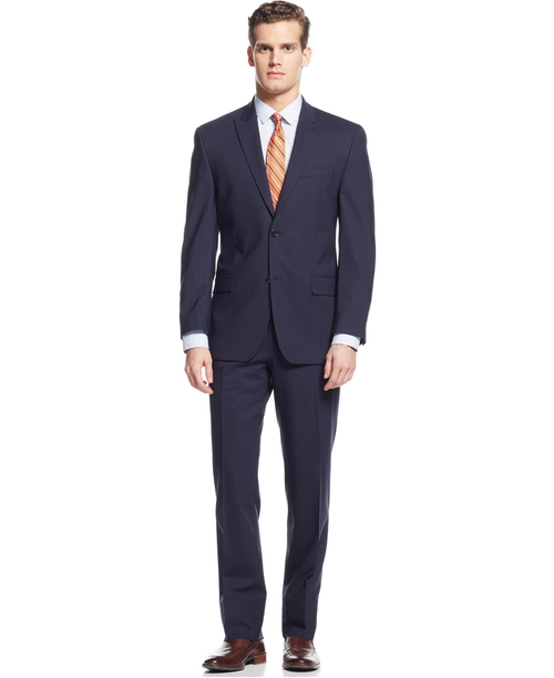 Multi-Striped Suit by Michael Michael Kors in Suits - Season 5 Episode 1