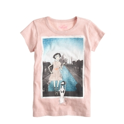 Girls' Olive Taj Mahal T-Shirt by J. Crew in Black-ish