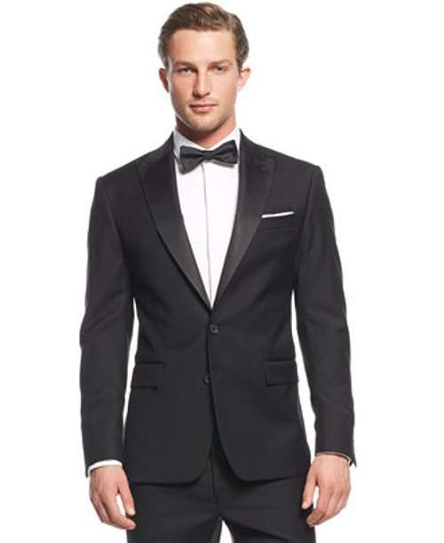 Black Peak Tuxedo Jacket by Ryan Seacrest Distinction in Pitch Perfect 2