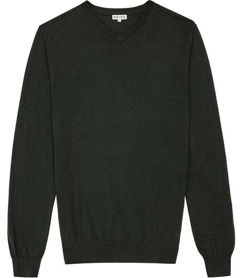 Emporer Merino V-Neck Sweater by Reiss in Modern Family - Season 7 Episode 7