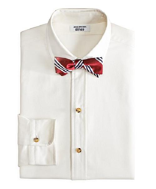 The Great Gatsby Collection Supima Cotton Slim Fit Golf Collar Oxford Solid Dress Shirt by Catherine Martin (Costume Designer) and Brooks Brothers (Tailor) in The Great Gatsby