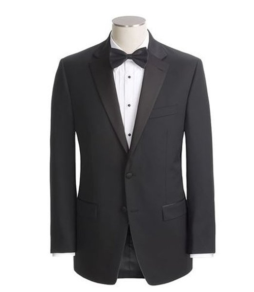 Wool Two Button Black Tuxedo Jacket by Ralph Lauren in Unfriended