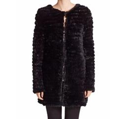 Knit Rabbit Fur Coat by Adrienne Landau in The Flash