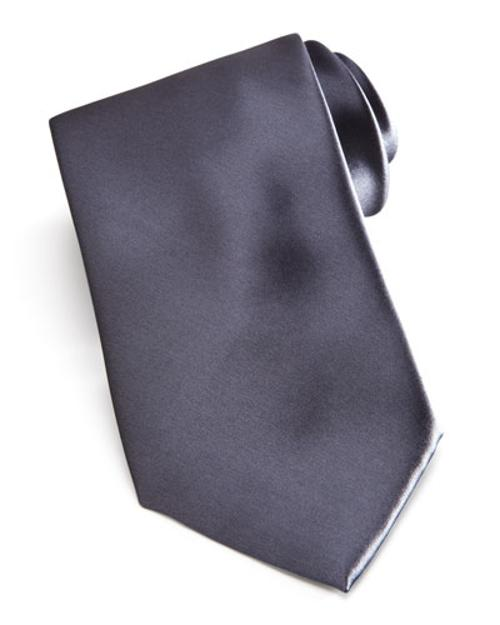 Solid Satin Tie by Brioni in The Other Woman