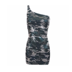 Sequinned Camouflage Dress by Balmain in Baywatch