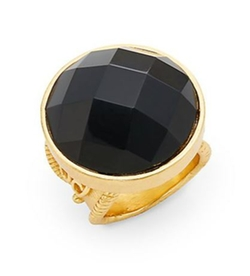 Casablanca Faceted Onyx Ring by Stephanie Kantis in Crimson Peak