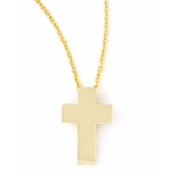 Yellow Gold Cross Necklace by Roberto Coin in The Fate of the Furious