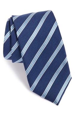 Stripe Silk & Wool Tie by Eton in The Good Wife